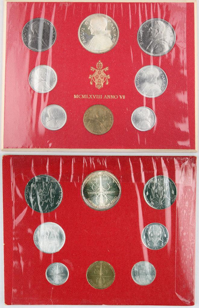 1968 Vatican Coin Set, 8 Coins Photo