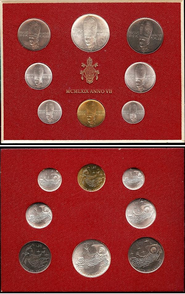 1969 Vatican Mint Set, 8 Coins Photo