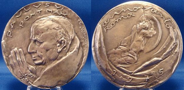 Paul VI 1975 Holy Year ArAe Medal 60mm Photo