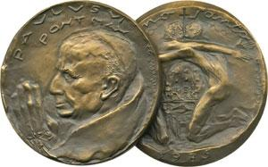 Paul VI 1975 Anno Santo Bronze Medal 60mm Photo