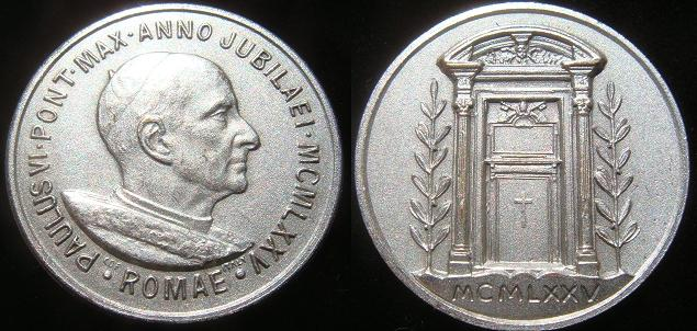 Paul VI 1975 Holy Door Medal Photo