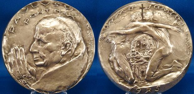 Paul VI 1975 Holy Year Ar/Ae Medal 60mm Photo