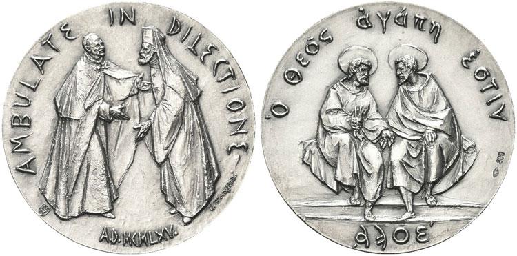 Paul VI 1975 Orthodox Reconciliation Silver Medal Photo