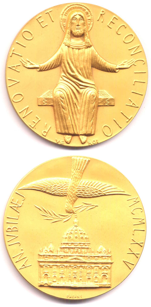 1975 Holy Year Medal 58mm Photo
