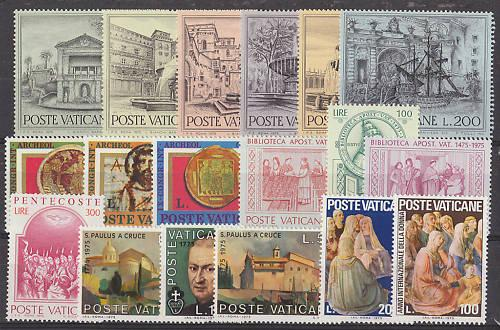 Vatican 1975 Stamp Year Set #572-89 Photo