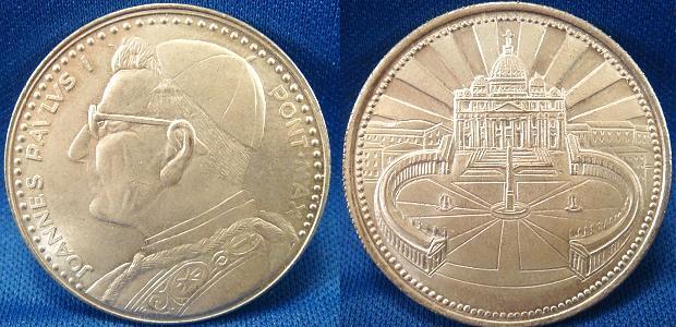 John Paul I (1978) St. Peter's Square Medal Photo