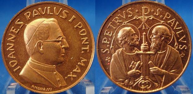 John Paul I (1978) Ss. Peter & Paul Medal Photo
