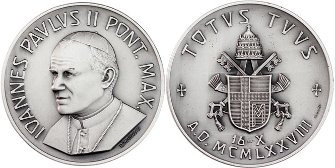 John Paul II 1978, October 16 Election Medal Photo