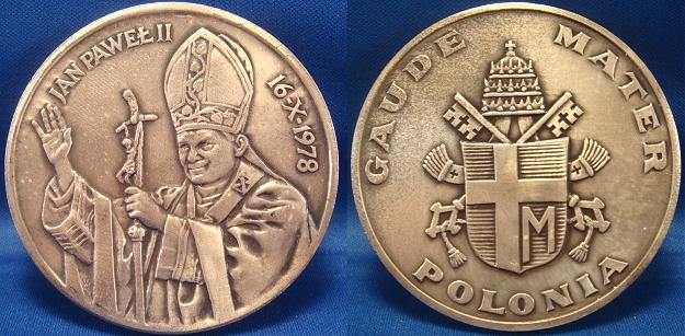 John Paul II 1978 Election Medal 69mm Photo