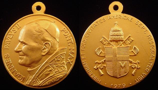 John Paul II 1979 U.S.A. Pastoral Visit Medal Photo