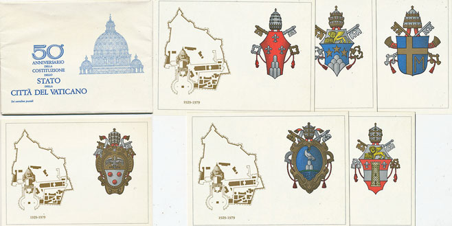 1979 Postcards Founding of Vatican City Photo