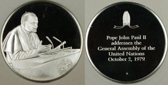 1979 John Paul II U.N. Address Medal Photo
