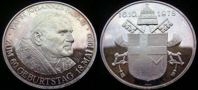 1980 John Paul II 60th Birthday 40mm Ag Photo