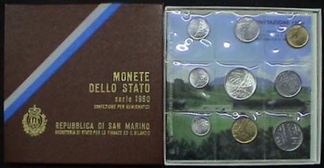1980 San Marino Coin Set, Olympic Coins Photo