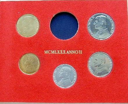 1980 Vatican Mint Set, Sans Silver Coin Photo