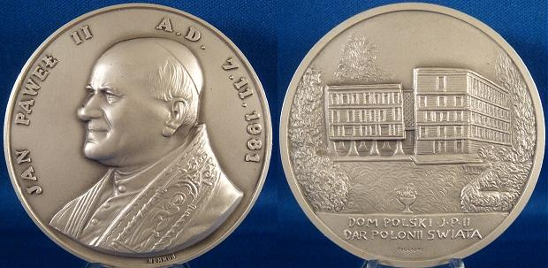 1981 John Paul II's Home Medal 60mm Photo