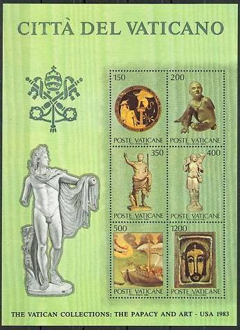 1983 Vatican Stamps: The Papacy and Art Photo
