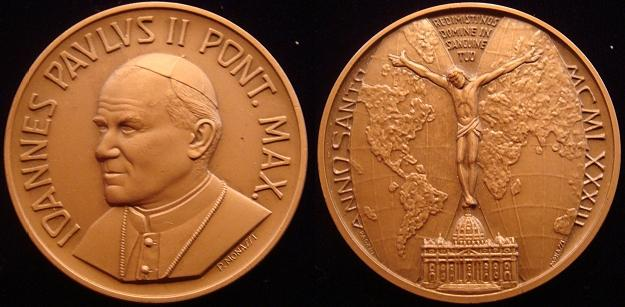 1983 John Paul II Holy Year of Redeption Medal Photo