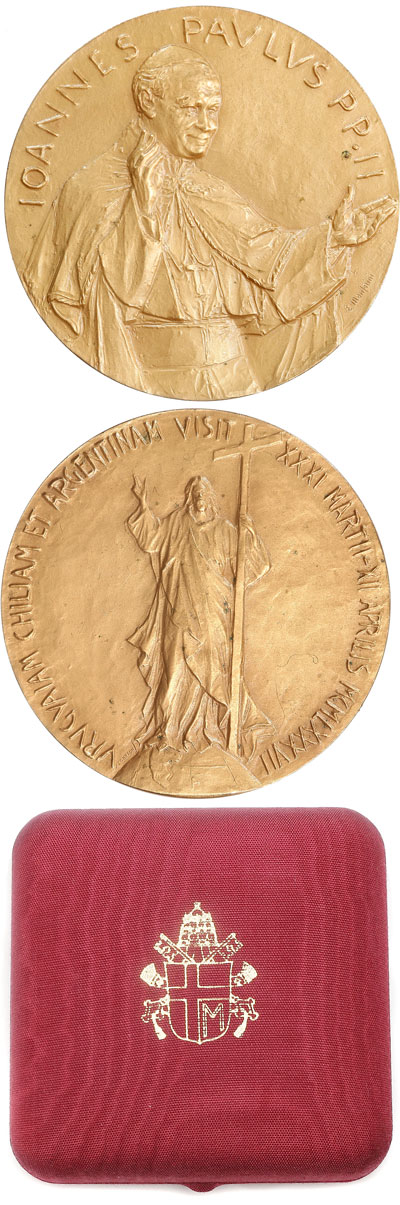 John Paul II 1987 South America Trip Medal 50mm Photo
