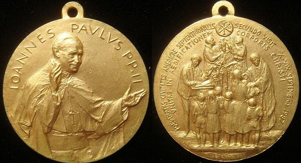 John Paul II 1987 Trip to U.S.A. Medal Photo