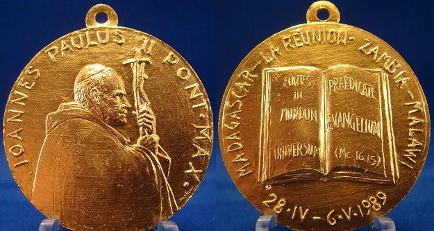 John Paul II 1989 Trip to Africa Medal Photo