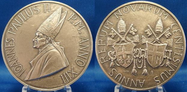 John Paul II A.XIII Rerum Novarum Medal Photo