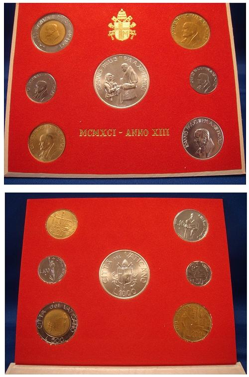 1991 Vatican Coin Set, REDEMPTORIS MISSIO Photo