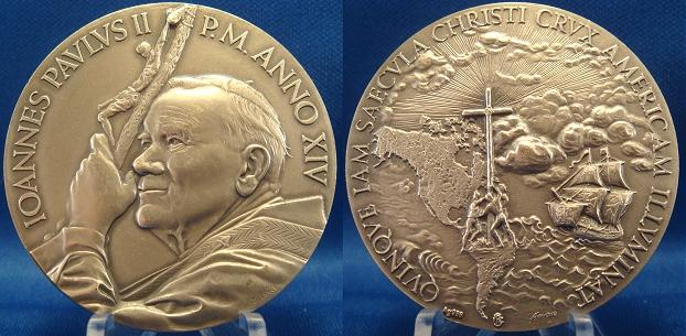 John Paul II A.XIV Discovery America Medal Photo