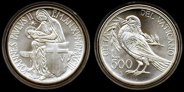 1993 Vatican 500L Commemorative PACEM IN TERRIS Photo