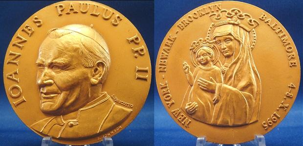 John Paul II 1995 Trip to U.S.A. Medal Photo