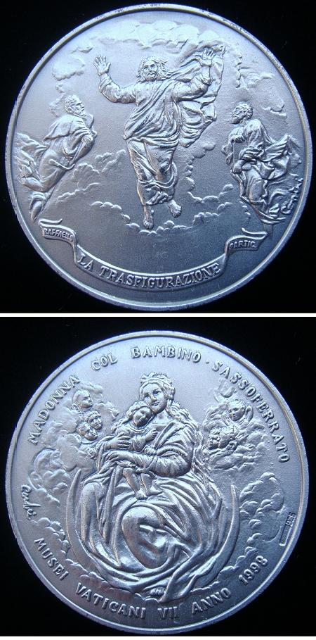 Vatican Museum 1998 The Transfiguration Medal Photo