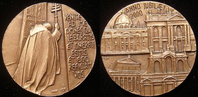 2000 Jubilee Major Basilicas of Rome Medal Photo