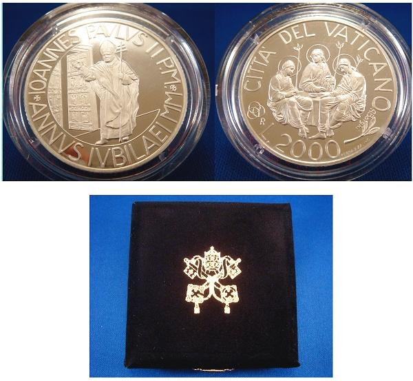 2000 Vatican 2000 Lire Anno Santo PROOF Photo