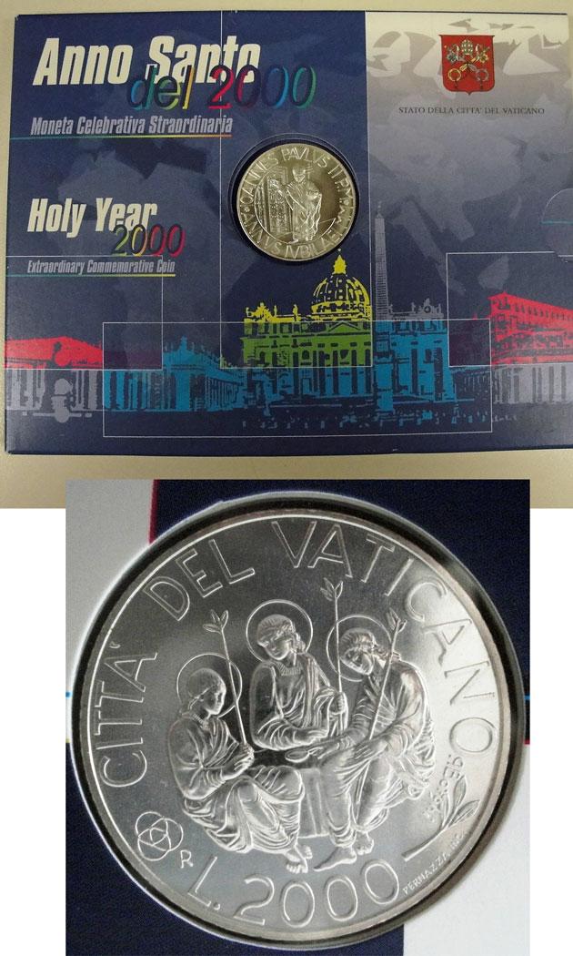 2000 Vatican 2000 Lire Anno Santo BU Photo