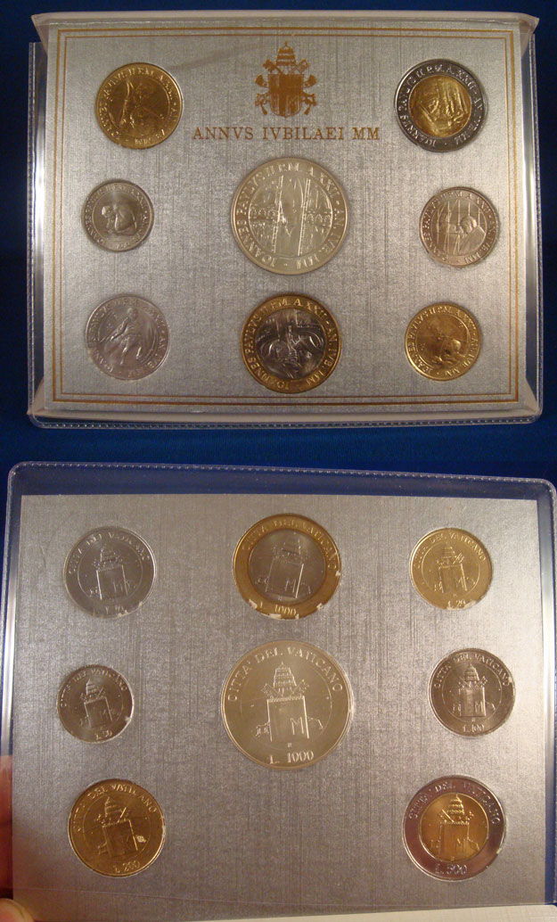 2000 Vatican Coin Set: Great Jubilee of 2000 Photo