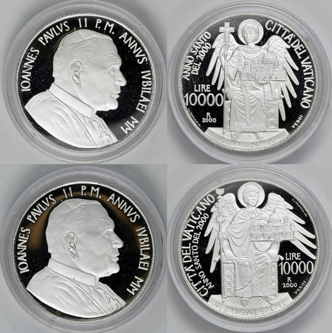 2000 Vatican Coins Jerusalem + Rome Photo