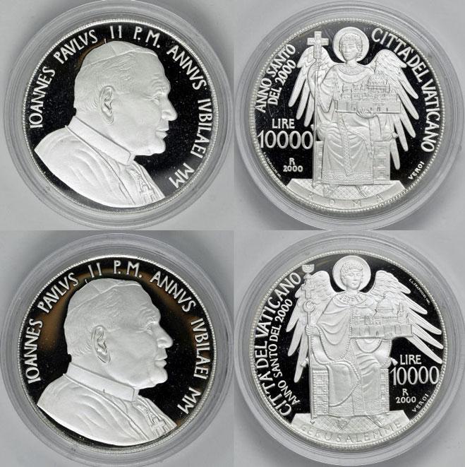 2000 Vatican Coins Jerusalem + Rome Photo
