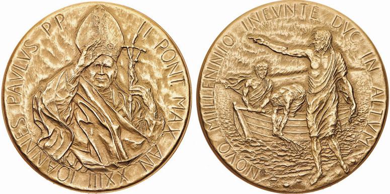 John Paul II Anno XXIII Bronze Medal Photo