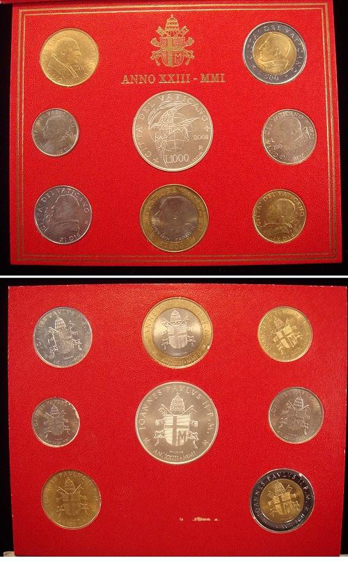 2001 Vatican Coin Set, Lire of the Popes Photo