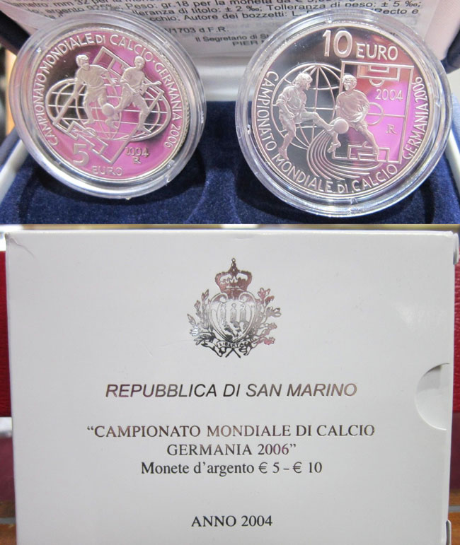 2004 San Marino Silver World Cup Germany Photo