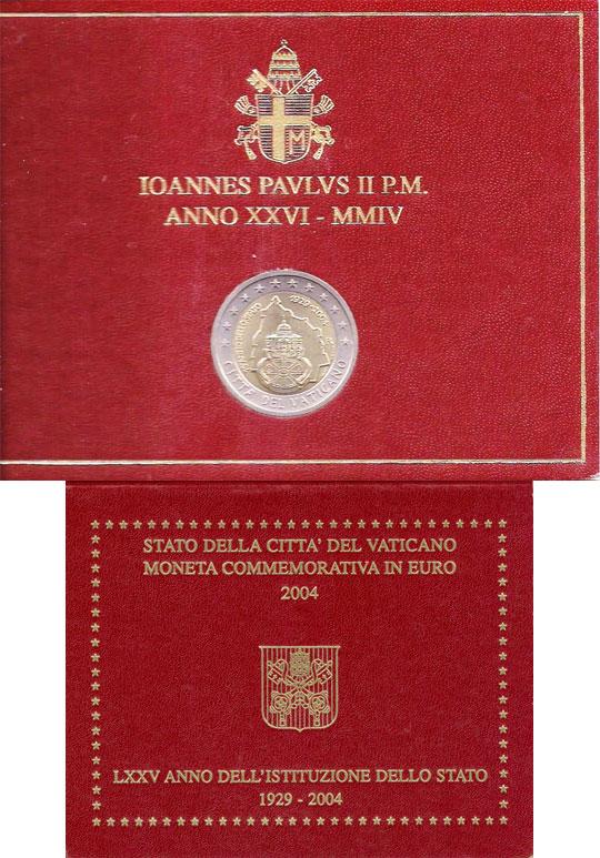 2004 Vatican 2 Euro Founding of Vatican City Photo