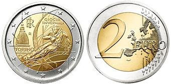 2006 Italy 2 Euro Coin Turin Winter Olympics Photo