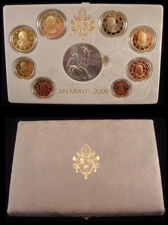 2006 Vatican Proof Set, 8 Euro Coins Photo