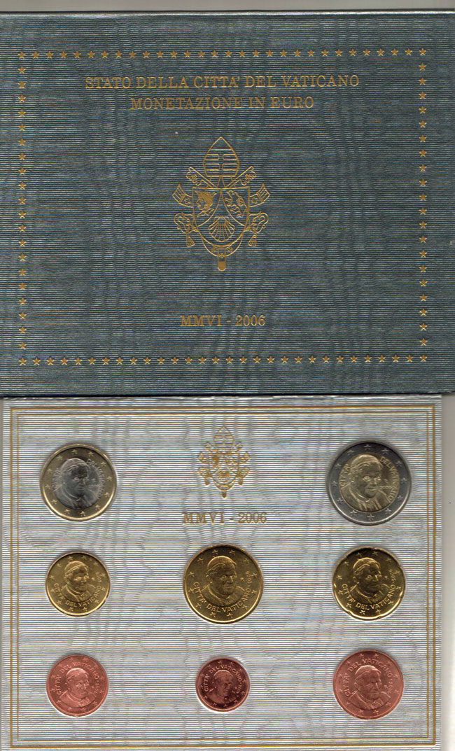 2006 Vatican Set, 1st Coin Set of Benedict XVI Photo