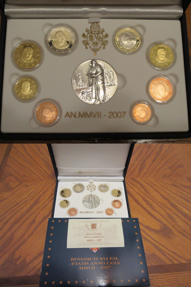 2007 Vatican Proof Set, 8 Euro Coins Photo
