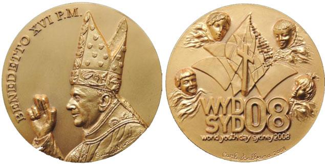 Benedict XVI 2008 Australia Trip Medal Photo