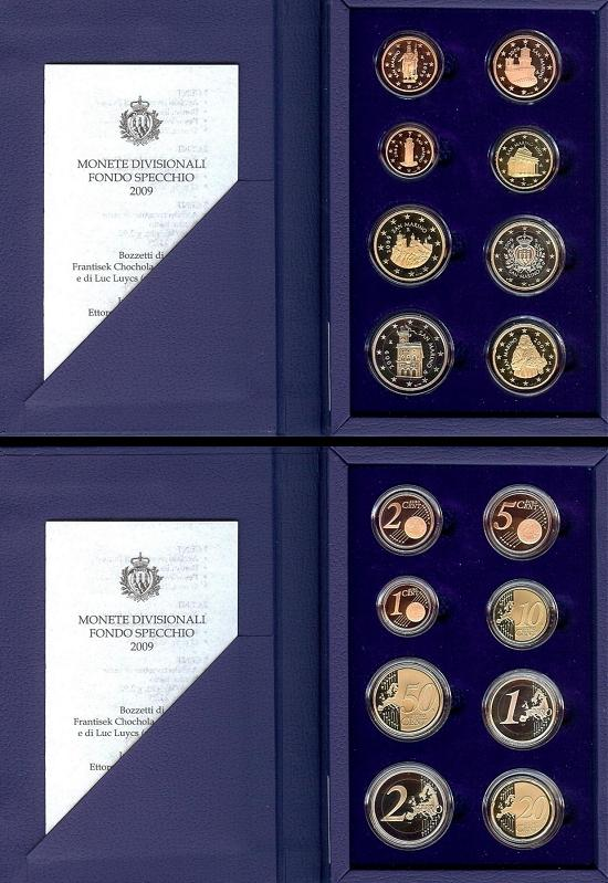 2009 San Marino Proof Euro Coin Set Photo