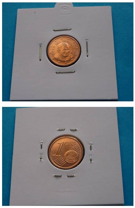 2010 Vatican 1 Cent Euro Coin B/U Photo
