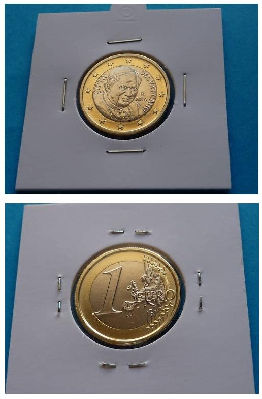 2010 Vatican 1 Euro Coin B/U Photo