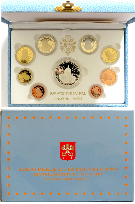 2012 Vatican Proof Set, 9 Euro Coins Photo